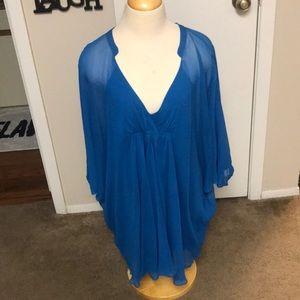 Diane von Furstenberg blue tunic